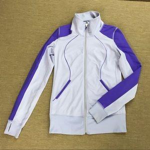Lululemon Fitted Yoga Jacket Zip Lavender Purple 6